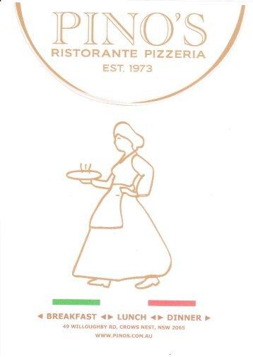 RISTORANTE PIZZERIA - Pino's Traditional Italian Restaurant ...
