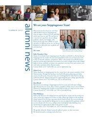 Alumni Newsletter, Summer 2012 - The Steppingstone Foundation