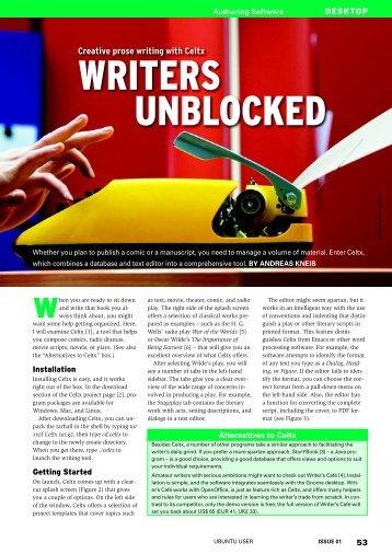 WRITERS UNBLOCKED - Ubuntu User