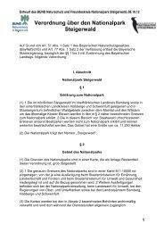 Verordnungsentwurf - Nationalpark Steigerwald
