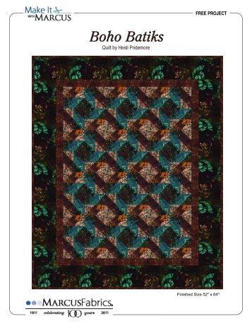 View / Download Boho Batiks