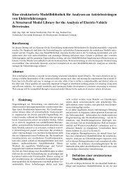 Eine strukturierte Modellbibliothek für Analysen an Antriebssträngen ...