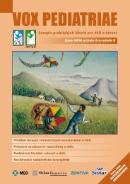 vox pediatriae 8/2008 - Dětský lékař
