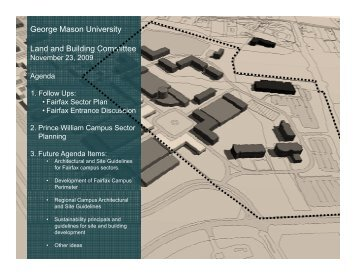 George Mason University Land and Building Committee - Facilities