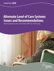 Alternate Level of Care Systems Issues and Recommendations