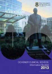 Ochsner Information Booklet - School of Medicine - University of ...