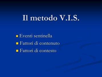 Il metodo V.I.S. - Psiop