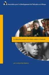 La réinsertion scolaire des enfants soldats en Ouganda - ADEA