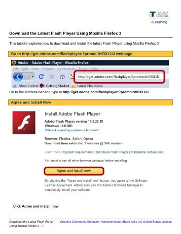 Download the Latest Flash Player Using Mozilla Firefox 3