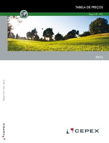 TABELA DE PREÇOS 2012