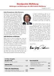 Standpunkte Juni-11 - Spd-Fraktion im Rat der Stadt Wolfsburg