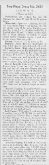 Page 1 Page 2 Two-Piece' Dress No. 2423 5|ZEs :4, |s. lß (Shown at ... - Page 2