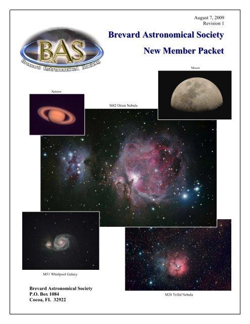 Brevard Astronomical Society New Member Packet - the Brevard ...