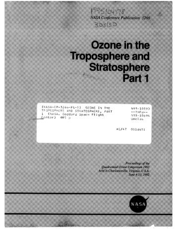Ozone in the Troposphere and Stratospheric, Part 1 - For Our ...