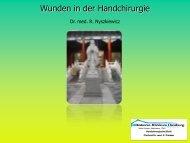 Wunden in der Handchirurgie - Wundzentrum Hamburg