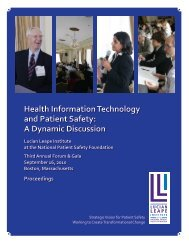 Health Information Technology and Patient Safety: A Dynamic ...
