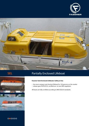 SEL Partially Enclosed Lifeboat - Fr. Fassmer GmbH & Co. KG