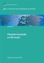 Okoljski kazalniki za Slovenijo - Statistični urad Republike Slovenije