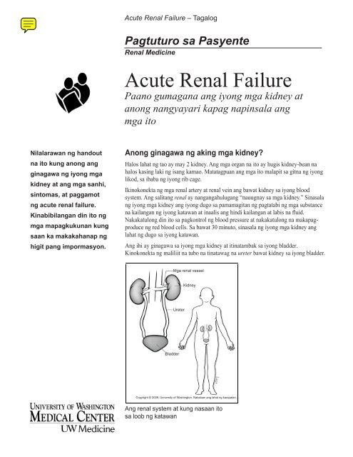 Acute Renal Failure Uwmc Health On Line University Of