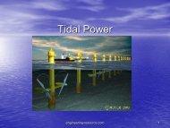Tidal Power - the engineering resource