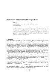 Short review on noncommutative spacetimes