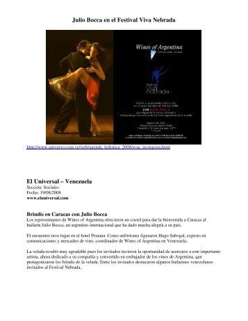 Julio Bocca-Informe y prensa.pdf - Wines Of Argentina