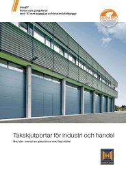 Industritakskjutportar - Garageportexperten