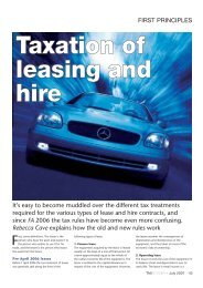 Taxation of leasing and hire