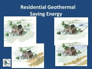 Geothermal Heat Pump Systems: How They Work and Why ... - EERE