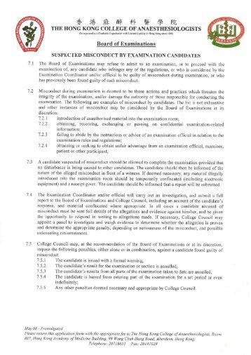 Intensive Care Final Fellowship Examination Application Form