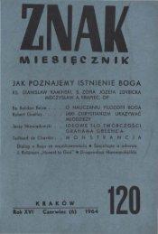 Nr 120, czerwiec 1964 - Znak