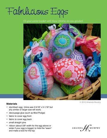 Fabrilicious Eggs - Amanda Murphy Design