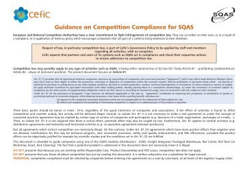 Guidance on Competition Compliance for SQAS - Fecc