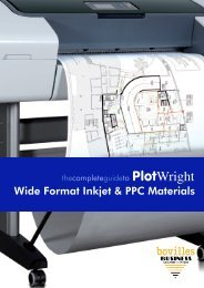 PlotWright - Papers For Inkjet Plotting and Plain Paper Plan Printing