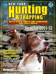 2011-2012 Hunting and Trapping Guide - New York State Envirothon