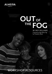 out fog of the by roy williams - Almeida Theatre
