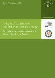 Policy and Institutions in Adaptation to Climate Change - Himalayan ...