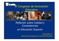 Reflexión sobre Calidad y Competencias en Educación Superior