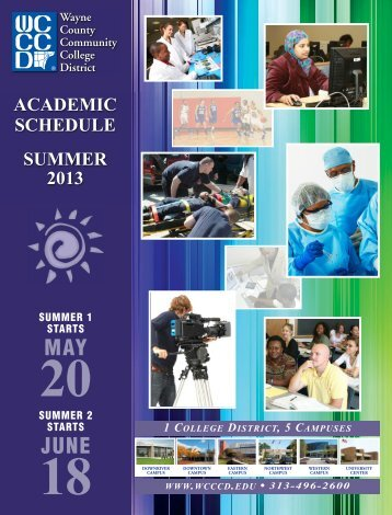 Summer 2013 Academic Schedule - Wayne County Community ...
