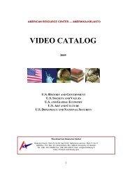 VIDEO CATALOG - Embassy of the United States Helsinki, Finland