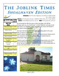 Joblink Times Shoalhaven Issue 1 2012
