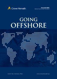 Going Offshore - Crowe Horwath International