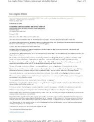 Page 1 of 2 Los Angeles Times: Undersea cable accident a test of ...