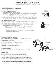 Quick Set-up Guide - DIYControls