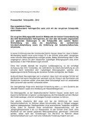 Vorstandschaftssitzung Schulpolitik - 2012 - CDU Stadtverband ...