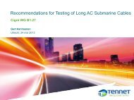 Recommendations for Testing of Long AC Submarine Cables - cigre