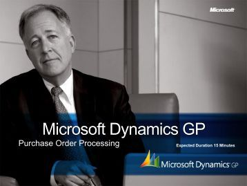 Microsoft Dynamics GP Breadth BDM Deck - Dynamics Innovations