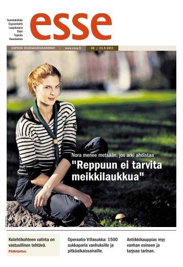 Esse 38/2011 (pdf) - Espoon seurakuntasanomat