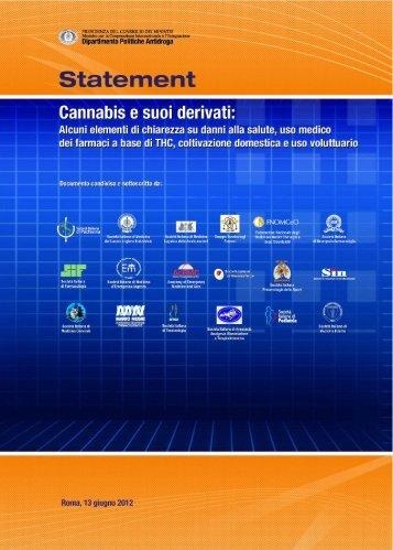 """Statement """"Cannabis e suoi derivati"""" - Dronet"""