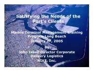 Satisfying the Needs of the Port's Clients - staging.files.cms.plus.com